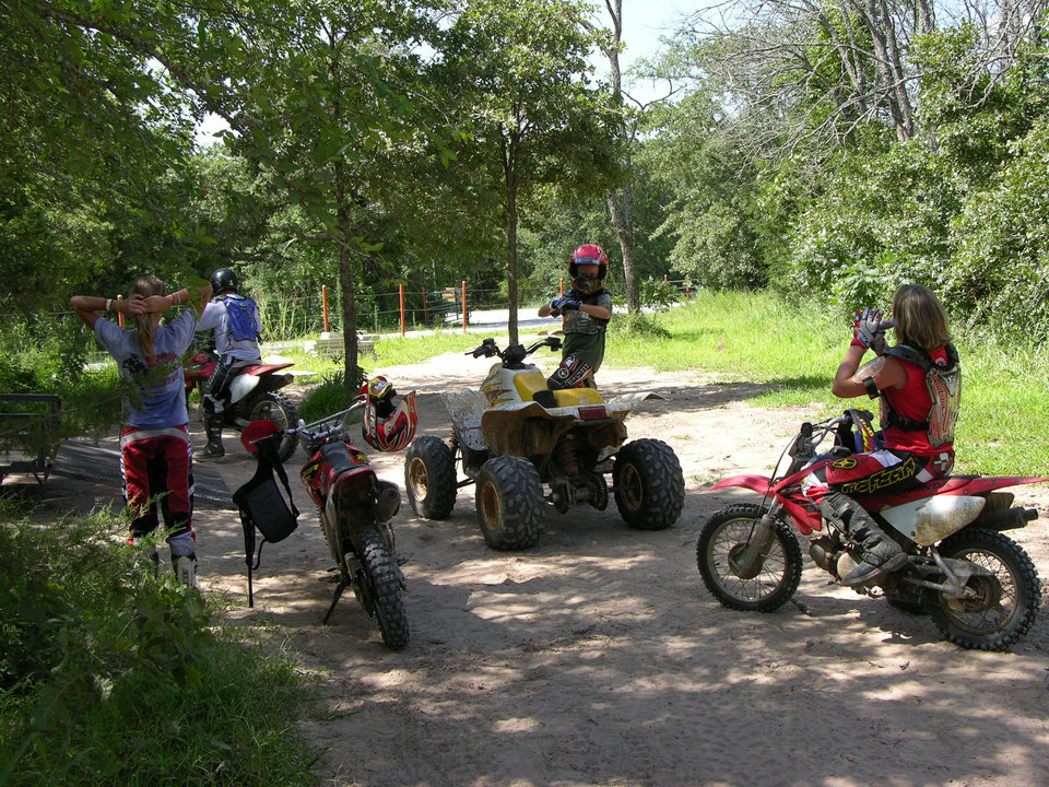 Photo - Riders prepare to hit the ATV trails at Lake Murray State Park. PHOTO PROVIDED