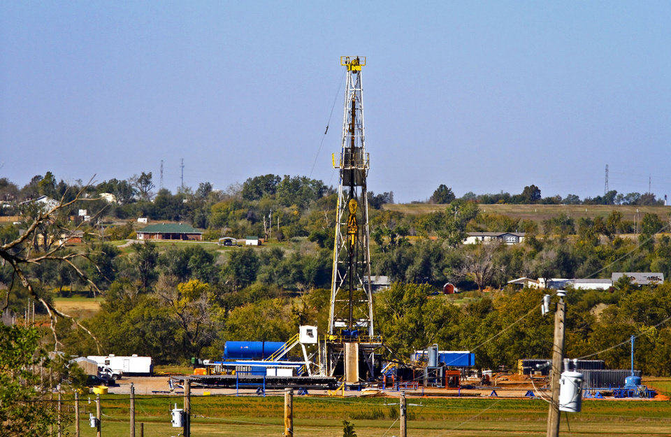 Photo - Continental Resources rig site in Chickasha, Okla., Friday, Oct. 19, 2012. Photo by Chris Landsberger, The Oklahoman