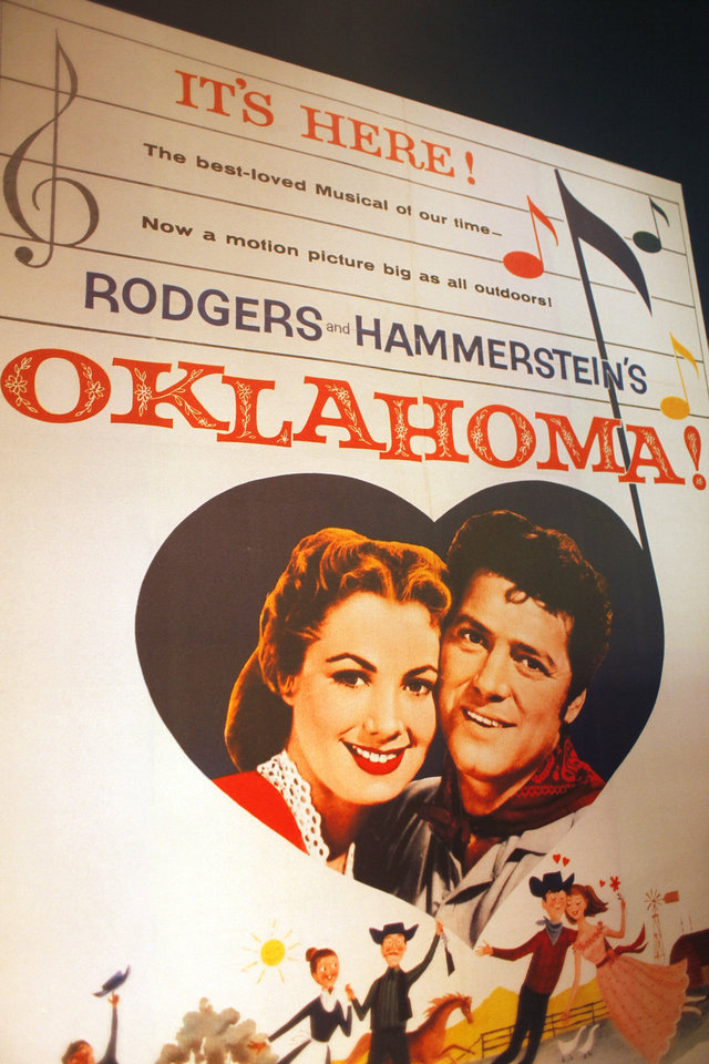 Photo - This oversized poster advertised the 1955 film version of Rodgers and Hammerstein's