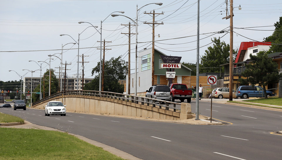 Photo -  A view of Classen Boulevard looking north from NW 7. Developers David Wanzer and Ben Sellers are betting redevelopment is set to occur all along Classen Boulevard between Reno Avenue and NW 13.  Photo by Nate Billings, The Oklahoman   NATE BILLINGS -  NATE BILLINGS