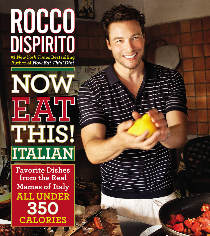 Photo - This undated publicity photo provided by Grand Central Publishing shows the cover of Rocco Dispirito's diet cookbook