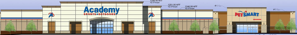 Photo - Academy and PetSmart are among the stores signed to Lawton Marketplace. DRAWINGS PROVIDED BY HUNT PROPERTIES