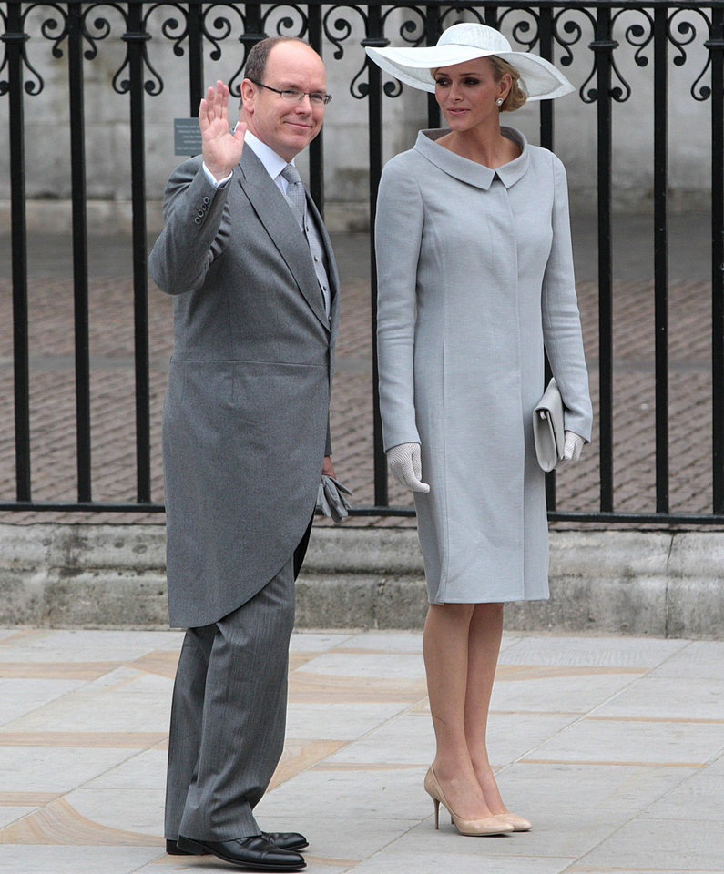 Photo - Prince Albert of Monaco with his fiancee Charlene Wittstock arrive at Westminster Abbey in London where Britain's Prince William and Kate Middleton will marry, Friday April 29, 2011. (AP Photo/PA, Lewis Whyld) UNITED KINGDOM OUT NO SALES NO ARCHIVE ORG XMIT: RWBJ106