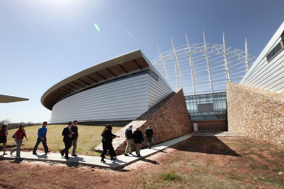 Photo -  Legislators on Tuesday are taken on a tour of the American Indian Cultural Center in Oklahoma City. Photo by David McDaniel, The Oklahoman   David McDaniel -