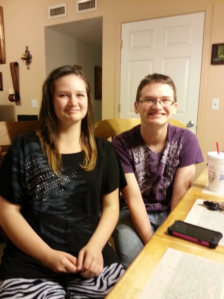 Photo - Brent and Michelle Whitney's children, Marissa, 12, and Brent, 14.