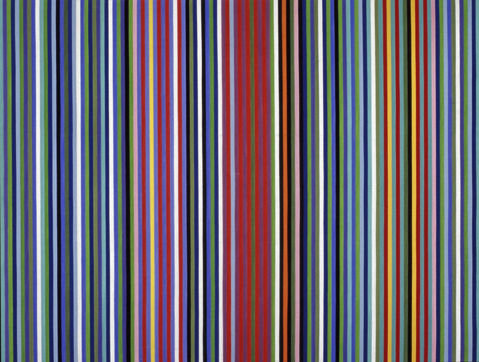 Photo -  Gene Davis's (American, 1920–1985) 1964 acrylic on canvas painting