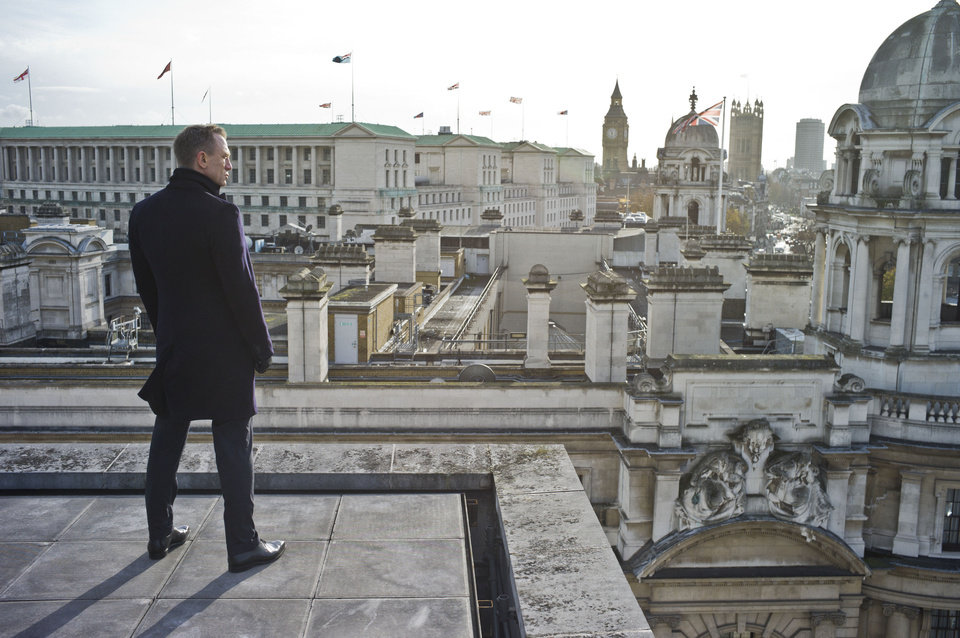 "Daniel Craig stars as James Bond in ""Skyfall"" and is pictured here from the rooftops of London.  PHOTO PROVIDED BY MGM/COLUMBIA PICTURES"
