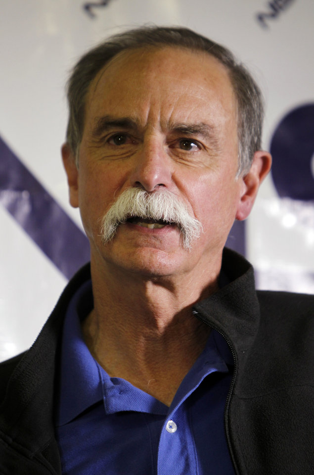 David Wineland, an American physicist at the National Institute of Standards in Boulder, who shares the 2012 Nobel Prize in physics with Serge Haroche of France, speaks at a news conference at NIST in Boulder, Colo., on Tuesday, Oct. 9, 2012. (AP Photo/Ed Andrieski)