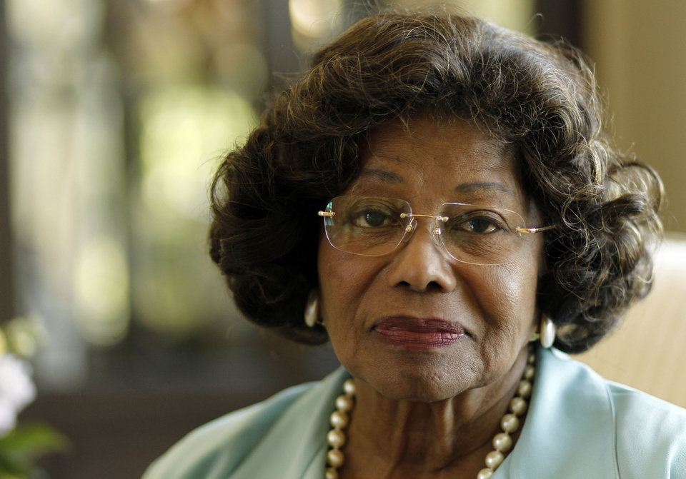 Photo - FILE - In this April 27, 2011 file photo, Katherine Jackson poses for a portrait in Calabasas, Calif. Opening statements are scheduled to begin Monday April 29, 2013, in Jackson's lawsuit against concert giant AEG Live over her son Michael's 2009 death. Katherine Jackson claims the company failed to properly investigate the doctor who was convicted in 2011 of involuntary manslaughter for the singer's death, but the company denies all wrongdoing. (AP Photo/Matt Sayles, File)