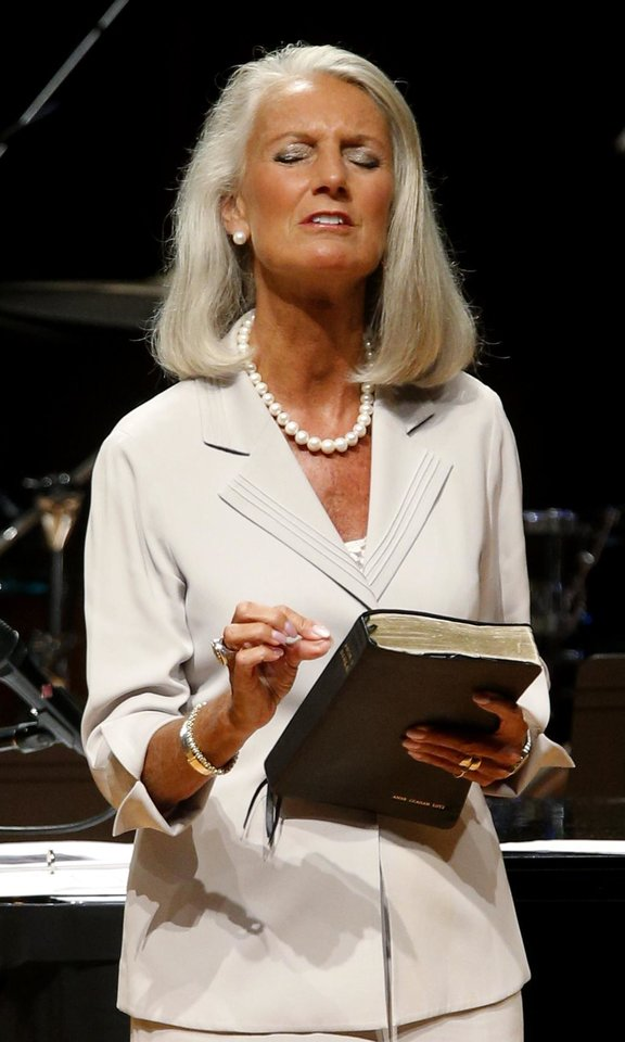 Photo -  Evangelist Anne Graham Lotz, daughter of renowned evangelist Billy Graham, speaks during the Church of God Convention on Tuesday at Crossings Community Church, 14600 N Portland in Oklahoma City. Photo by Bryan Terry, The Oklahoman   BRYAN TERRY -
