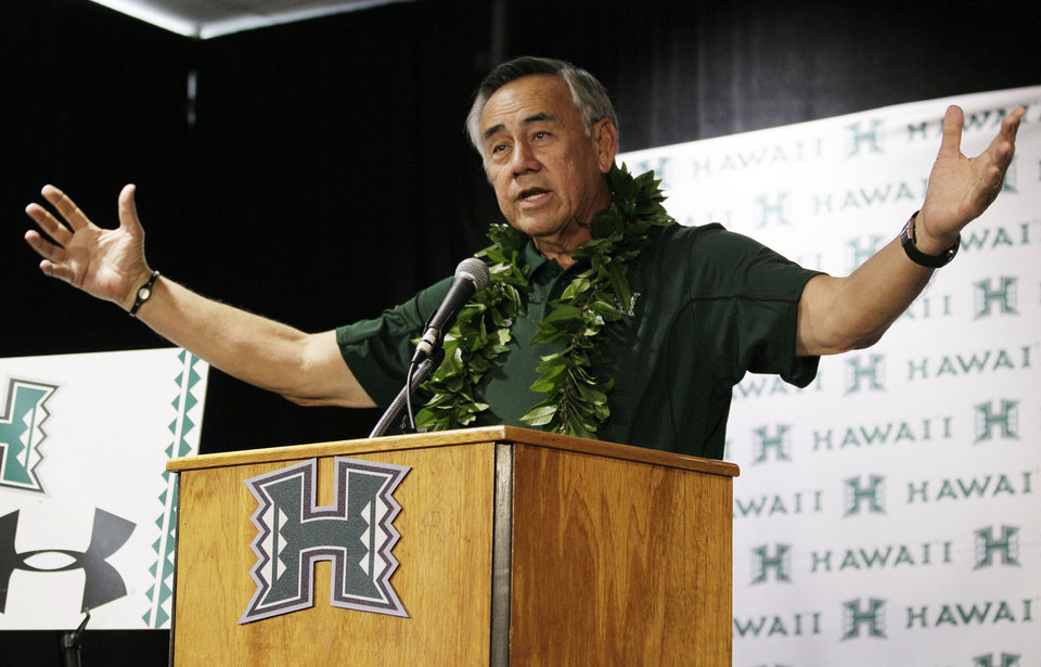 <b>6. NORM CHOW, HAWAII</b> <br />  Norm Chow replaces Greg McMackin. Chow's off-putting personality never won over decision-makers, so a head coaching offer never came his way. Until now. Chow has Hawaiian roots and an offensive resume that should play well in Honolulu, where the Rainbows have been hard-pressed to replicate the successful June Jones era.