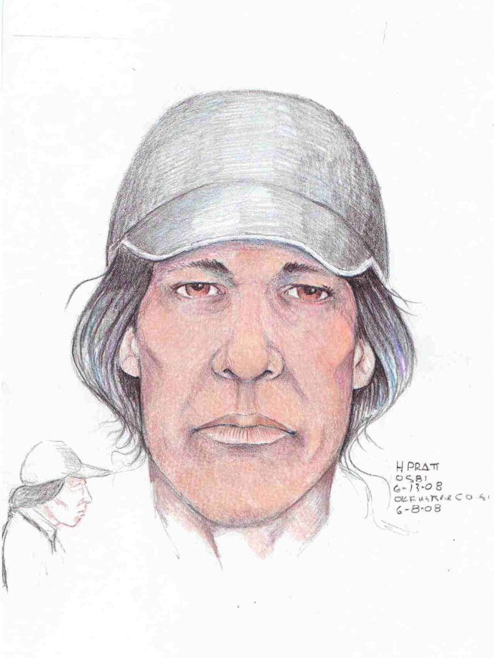 Photo - DRAWING The Oklahoma State Bureau of Investigation released this sketch Friday, June 13, 2008, of a