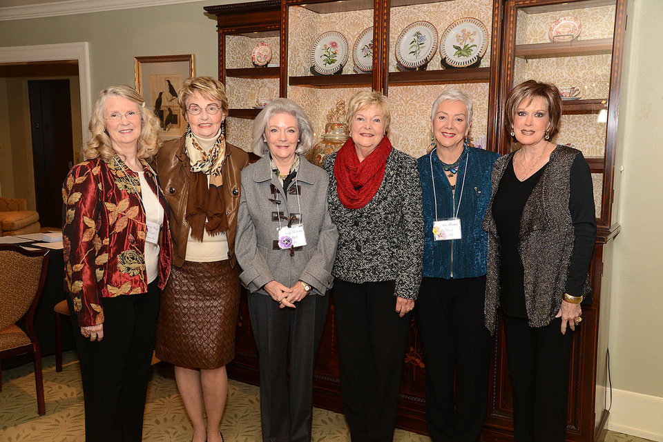 Photo - Nancy Powell, Brooke Murphy, Rindy Hyde, Marty McCharen, Ann Ryan, Sherry Conger.  Photo by David Faytinger, for The Oklahoman