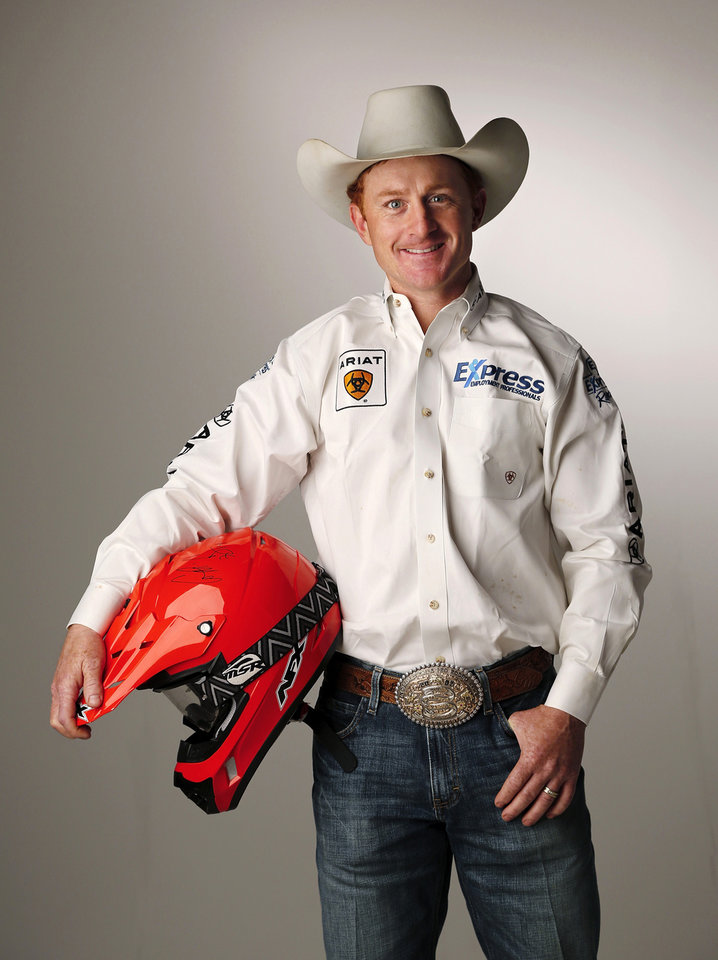Photo -      Cord McCoy, competitor with his brother, Jet McCoy, and professional bull rider, poses for a photo to promote ATV Ride Safe Oklahoma. Photo by Jim Beckel, The Oklahoman   Jim Beckel -  THE OKLAHOMAN