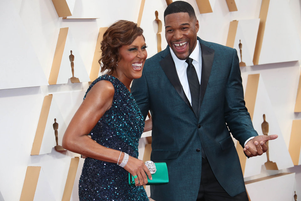 Photo - Feb 9, 2020; Los Angeles, CA, USA;  Robin Roberts, left and Michael Strahan arrive at the 92nd Academy Awards at Dolby Theatre. Mandatory Credit: Dan MacMedan-USA TODAY