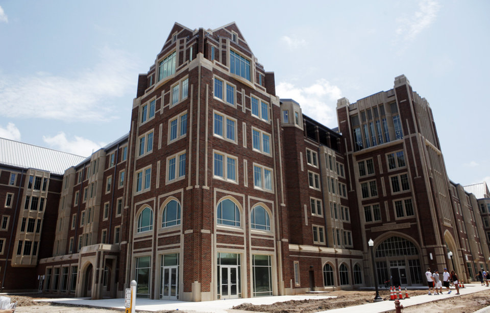 Newly constructed Headington Hall, a $75 million privately funded student housing facility for student athletes on the campus of the University of Oklahoma on July 28, 2013. Photo by KT KING, The Oklahoman