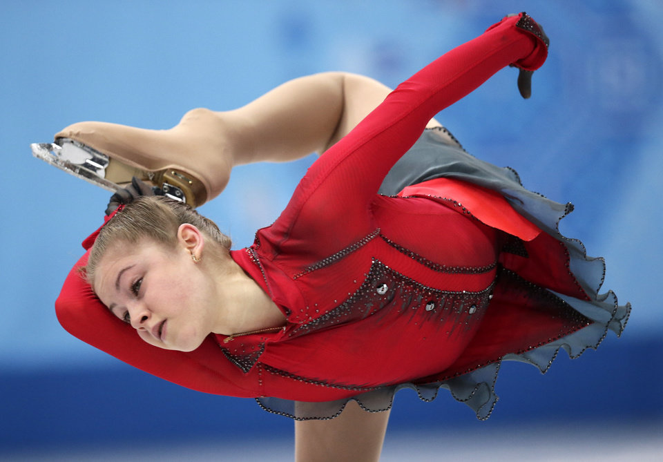 Photo - Julia Lipnitskaia of Russia competes in the women's team free skate figure skating competition at the Iceberg Skating Palace during the 2014 Winter Olympics, Sunday, Feb. 9, 2014, in Sochi, Russia. (AP Photo/Bernat Armangue)