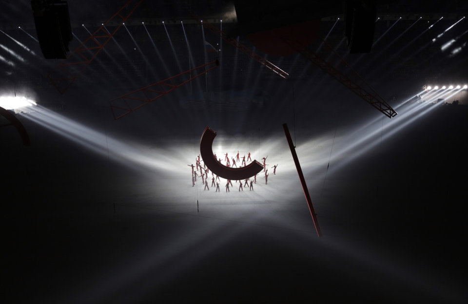 Photo - Actors perform during the opening ceremony of the 2014 Winter Olympics in Sochi, Russia, Friday, Feb. 7, 2014. (AP Photo/David J. Phillip )