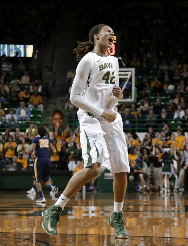 Center Brittney Griner and defending national champion Baylor host Oklahoma on Saturday. AP PHOTO