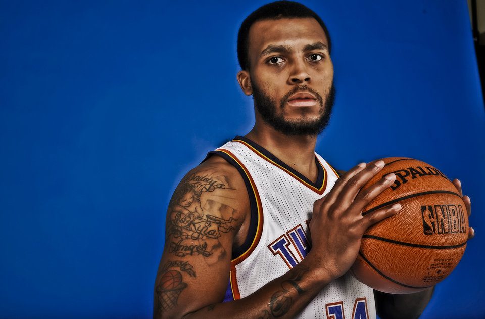 Photo - NBA BASKETBALL: Daequan Cook during the Oklahoma City Thunder media day at the Chesapeake Energy Arena in Oklahoma City, Okla. on Tuesday, Dec. 13, 2011. Photo by Chris Landsberger, The Oklahoman
