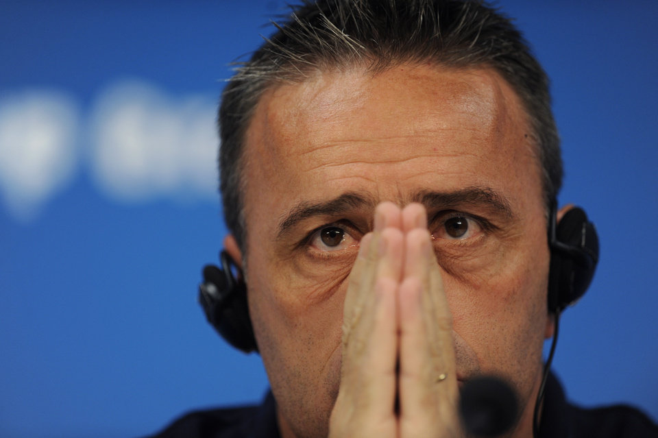 Photo - Portugal's head coach Paulo Bento attends a press conference prior to a training session at Arena da Amazonia in Manaus, Brazil, Saturday, June 21, 2014. Portugal will play against the United States in group G of the 2014 soccer World Cup on June 22. (AP Photo/Paulo Duarte)