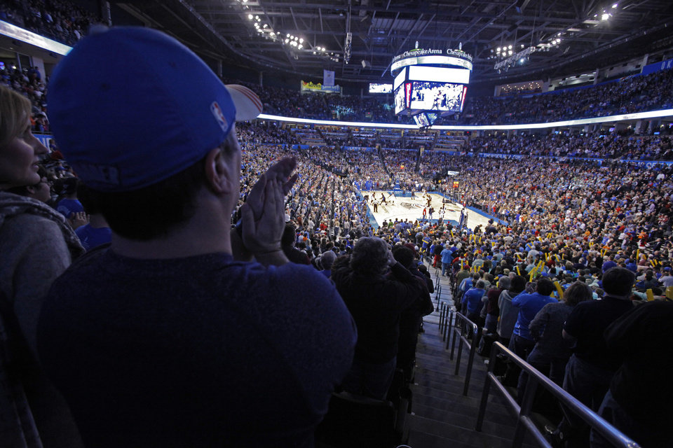 Okc Thunder Games Continue To Sell Out At Chesapeake