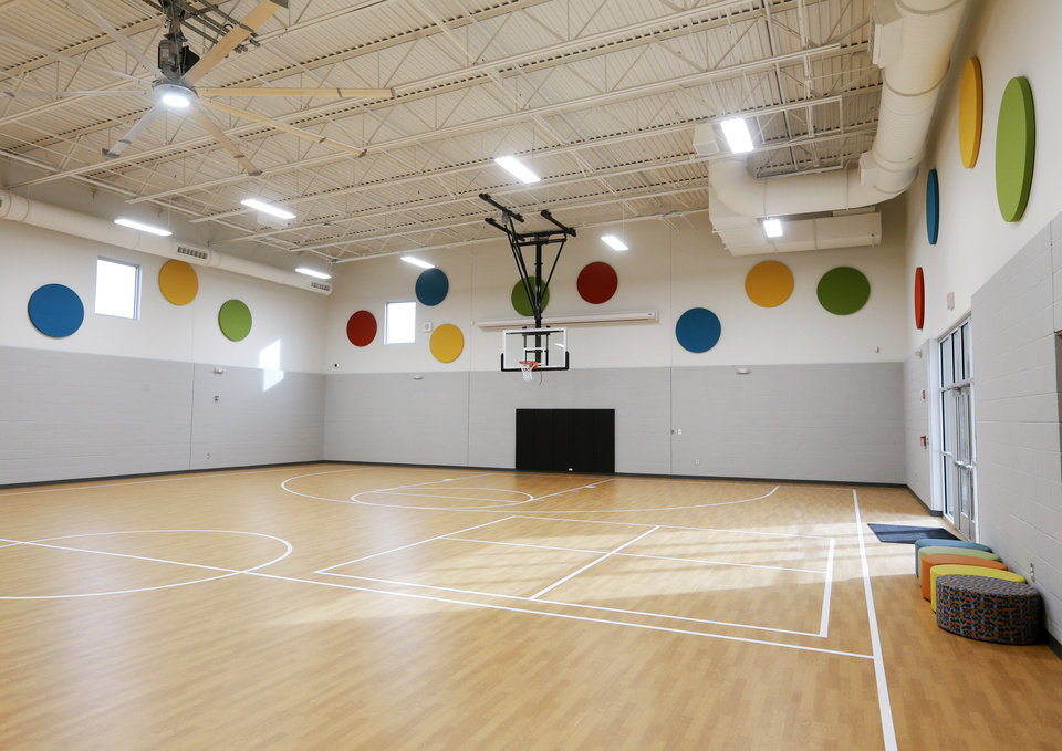 Photo - The gym at the new facility for Positive Tomorrows, a school for homeless children, at 901 N Villa in Oklahoma City, Tuesday, Nov. 26, 2019. [Nate Billings/The Oklahoman]