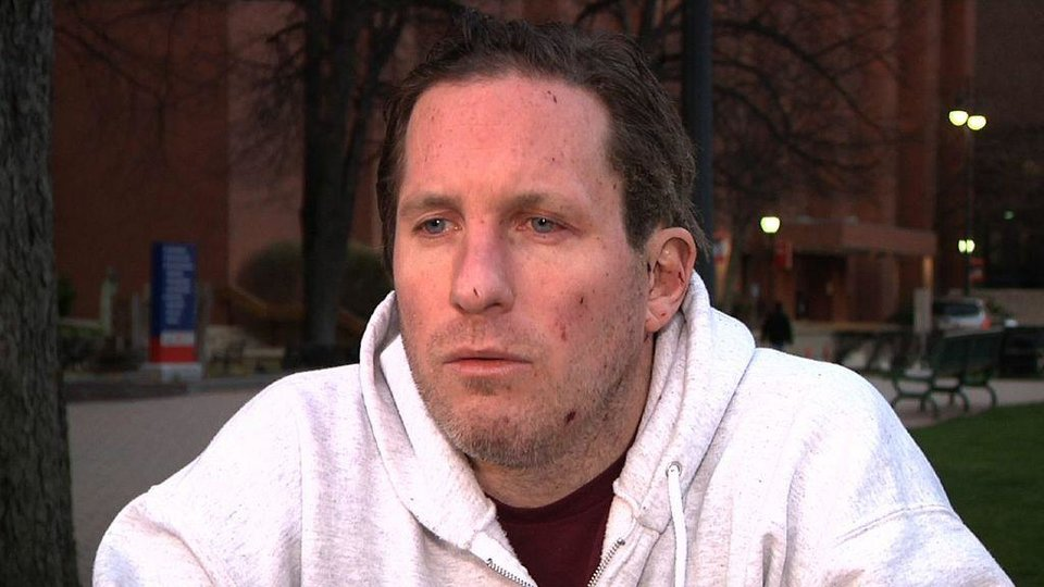 This image from video shows Boston Marathon bombing victim Kevin White during an interview with the Associated Press on Wednesday evening, April 17, 2013 soon after Kevin White was released from Boston Medical Center, where he was treated for injuries he suffered in Monday\'s blast. Kevin White had just left a restaurant with his parents when the first of two bombs that hit the Boston Marathon exploded about 10 feet away. The force of the blast, he said Wednesday, was so strong that it slammed them to the ground, breaking some of his mother\'s bones and tearing his father\'s right foot so badly surgeons had to amputate it. (AP Photo/Rodrique Ngow)