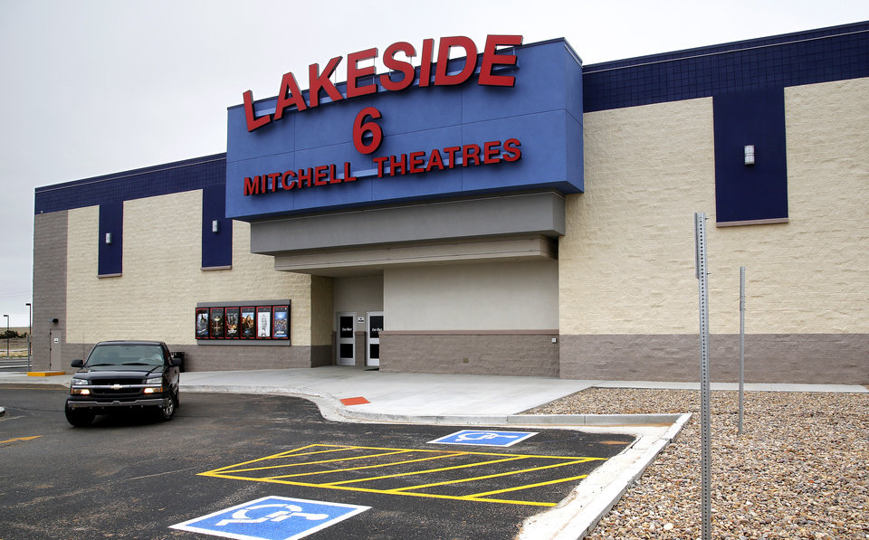 The Lakeside 6 movie theatre has been repaired after last year's tornado and is now open for business. Residents of Woodward, in northwest Oklahoma, observe the first anniversary of a deadly F3 tornado that caused serious damage and killed six people on April 15, 2012.   Photo taken Tuesday, April 9, 2013.  by Jim Beckel, The Oklahoman.