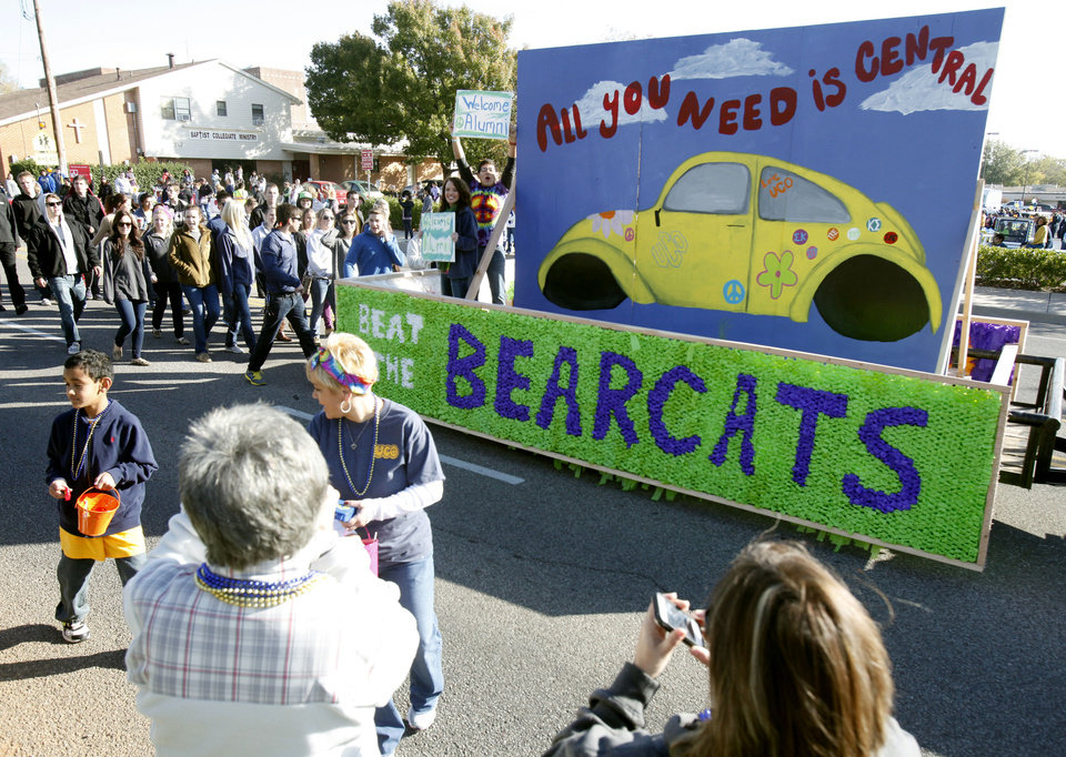 A UCO float passes by during the University of Central Oklahoma's homecoming parade in Edmond, OK, Saturday, November 3, 2012,  By Paul Hellstern, The Oklahoman