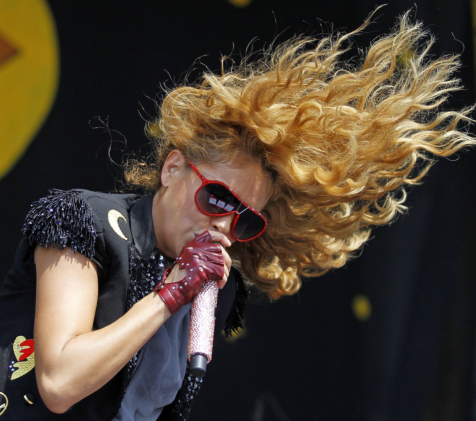 Photo -   Paulina Rubio performs on the Congo Square stage during the New Orleans Jazz and Heritage Festival Saturday, May 5, 2012 in New Orleans. (AP Photo/The Times-Picayune, Brett Duke) MAGS OUT; NO SALES; USA TODAY OUT