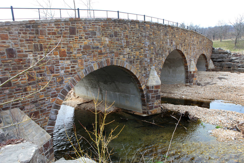 Stone bridge that leads to Clear Creek Monastery, Thursday, March 14, 2013. Special Easter Sunday package about monks at Benedictine monastery at Our Lady of Clear Creek Abbey near Hulbert.  Reporters are Bryan Painter and Carla Hinton.Photo By David McDaniel/The Oklahoman