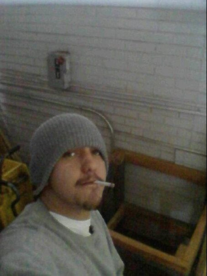 Photo - Drug offender Daniel M. Farrimond, 24, was caught with a cellphone on Feb. 7, 2012, at the Altus Community Work Center one day after this photo was posted to his Facebook page.  Facebook - Facebook