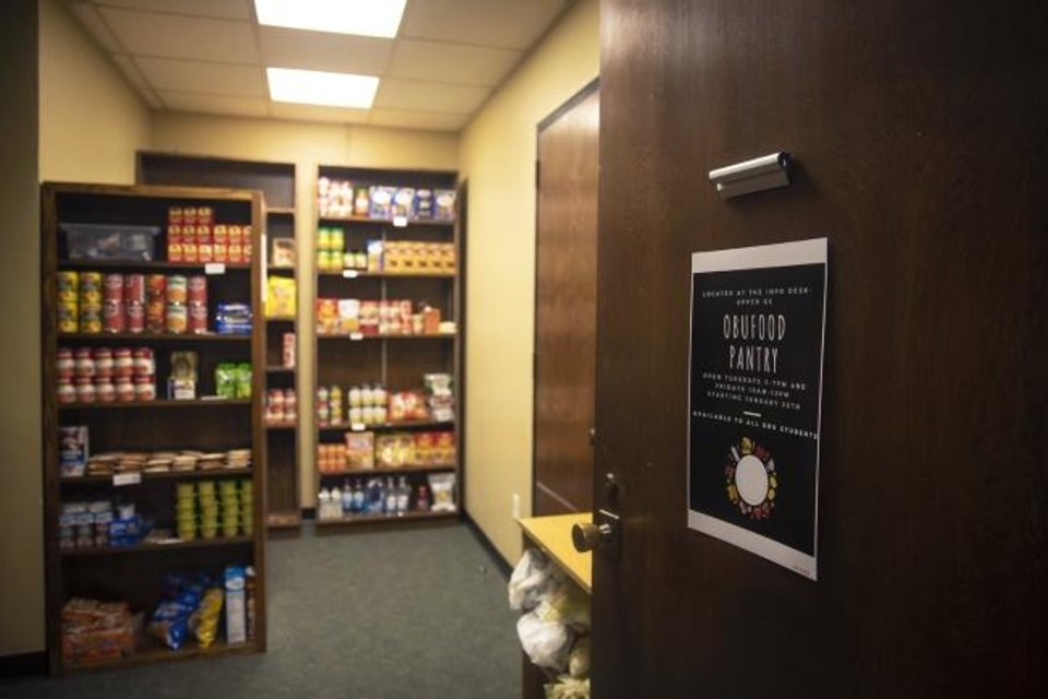 Photo -  The Good Things Food Pantry on the second floor of the Geiger Center at Oklahoma Baptist University provides food for students that need it. [Heather Hamilton/OBU Photos]