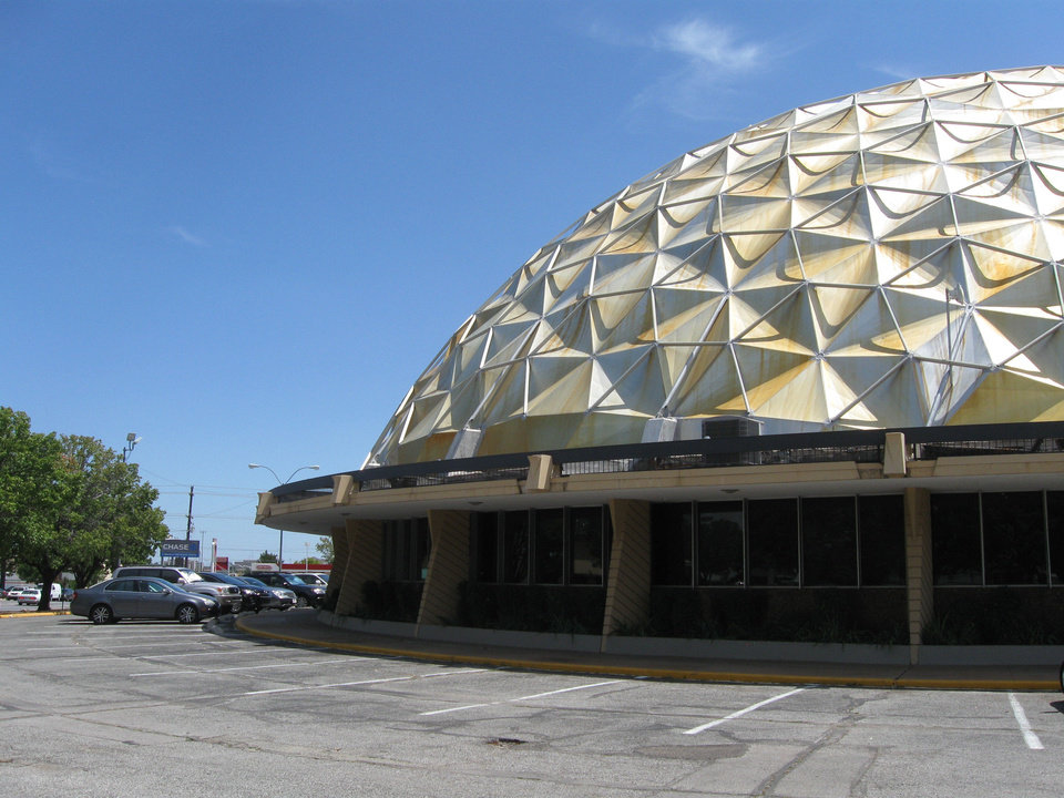 Photo - The iconic Gold Dome at NW 23 and Classen Boulevard, narrowly saved from the wrecking ball a decade ago, is set for a foreclosure sale next month. Photo by Steve Lackmeyer, The Oklahoman