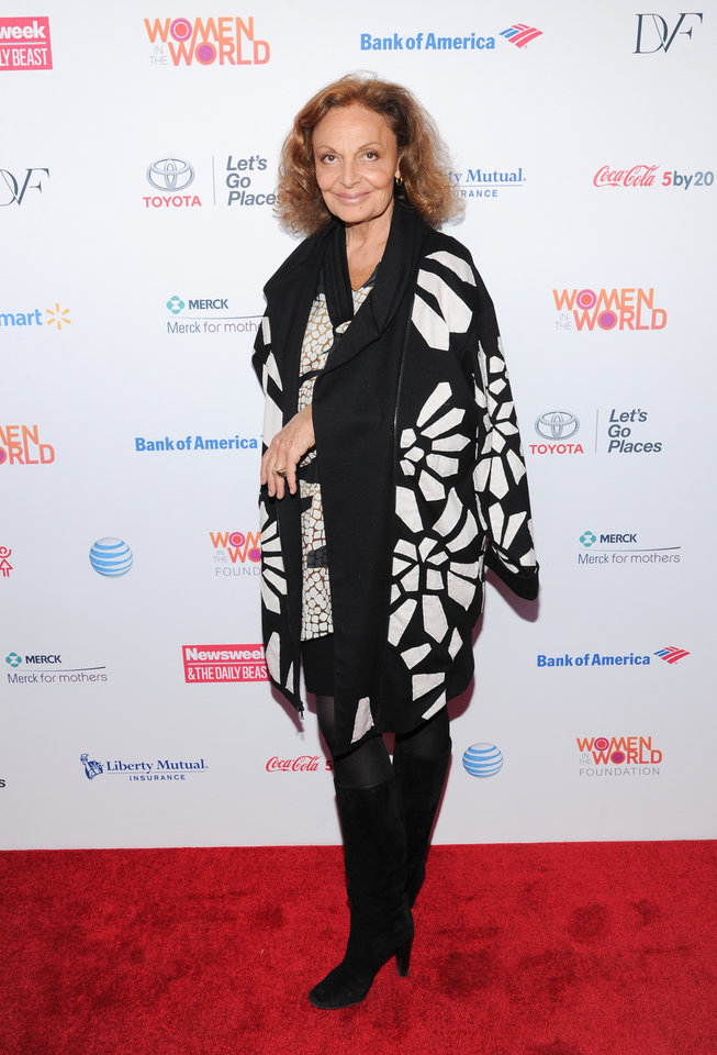 Photo - Fashion designer Diane von Furstenberg attends the 4th Annual Women in the World Summit at the David H. Koch Theater on Thursday, April 4, 2013 in New York. (Photo by Evan Agostini/Invision/AP)