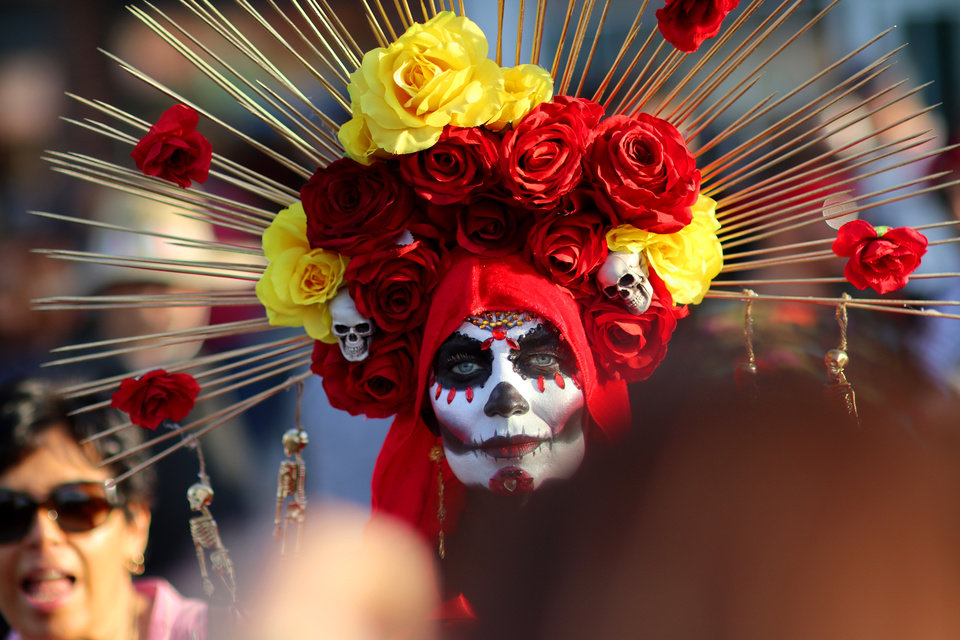 Photo - THE OK Magazine. Tiara Cook, during the Day of the Dead festival in the Plaza District Sunday, November 3, 2019. Photo by Doug Hoke