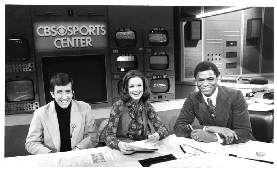 "Brent Musburger, Phyllis George and Irv Cross teamed up on CBS' ""The NFL Today,"" beginning in 1975 when George joined the show. PHOTO PROVIDED"