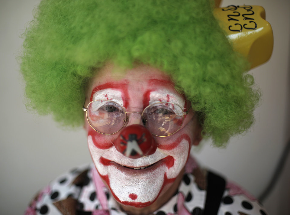 "Marvin ""Put Put"" Privette, who has been a clown for more than 60 years, poses for a portrait at the Oklahoma State Fair in Oklahoma City, Friday, Sept. 21, 2012.  Photo by Garett Fisbeck, The Oklahoman"