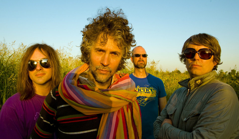 The Flaming Lips, from left, are Kliph Scurlock, Wayne Coyne, Michael Ivins and Steven Drozd. PHOTO BY MICHELLE MARTIN-COYNE <strong></strong>