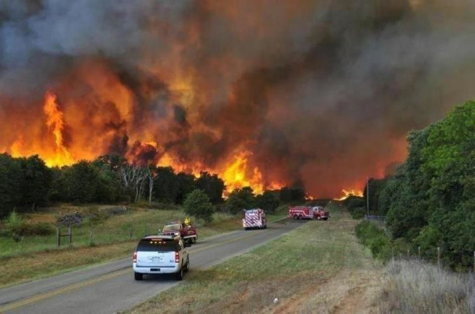 Luther wildfire August 2012