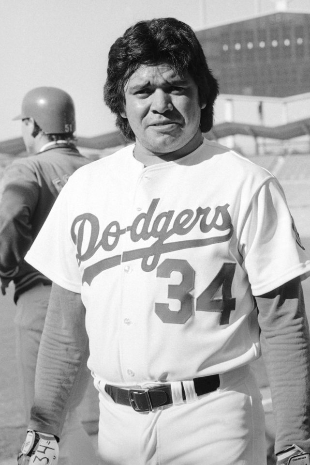 Los Angeles rookie pitching sensation, Fernando Valenzuela, shown at stadium in California on April 28, 1981. (AP Photo)