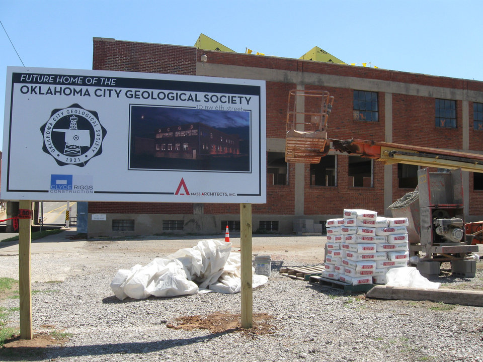Photo - Renovations are underway on the future home of the Oklahoma City Geological Society.   Photo by Steve Lackmeyer, The Oklahoman   Steve Lackmeyer