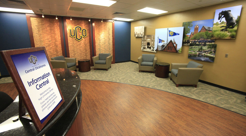 Photo - This is the renovated information center at the University of Central Oklahoma Nigh University Center.  PHOTOS BY DAVID MCDANIEL, THE OKLAHOMAN