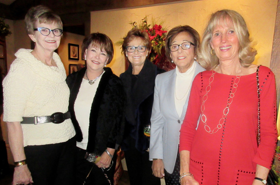 Photo - DeDe Benham, Ann Johnstone, Charlotte Richels, Pam Shdeed, Anne Gray. PHOTO BY HELEN FORD WALLACE, THE OKLAHOMAN