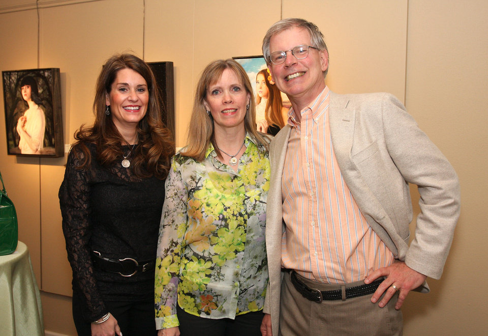 Photo - Kristen Brown, Cristi and Kurt Reiger. PHOTO BY DAVID FAYTINGER, FOR THE OKLAHOMAN