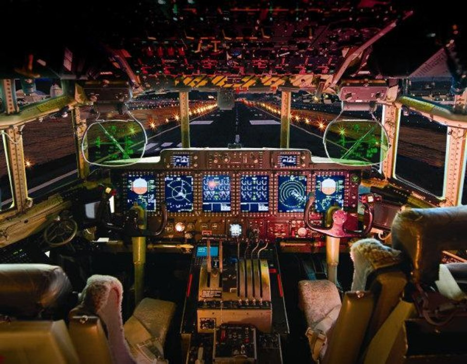 Photo - Boeing began hiring in 2011 for its new engineering design center in Oklahoma City which will be upgrading the cockpits, such as this one in a C-130, from analog to digital control systems. Photo provided