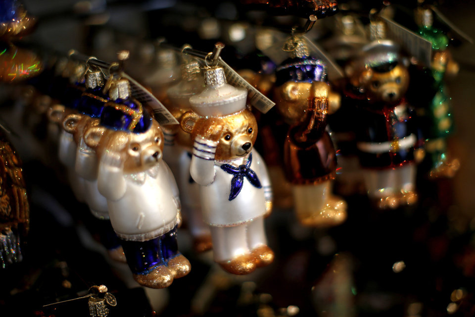 Photo -  Christmas ornaments inside the Painted Door in Oklahoma City. [Photo by Bryan Terry, The Oklahoman]