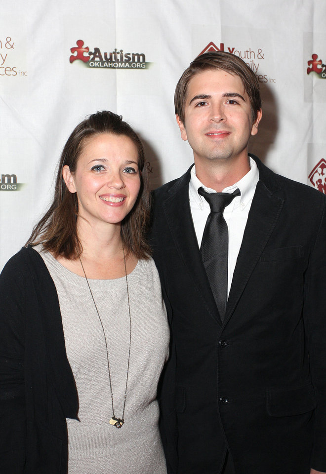 Jen and Zac Davis. Photo by David Faytinger for the Oklahoman__