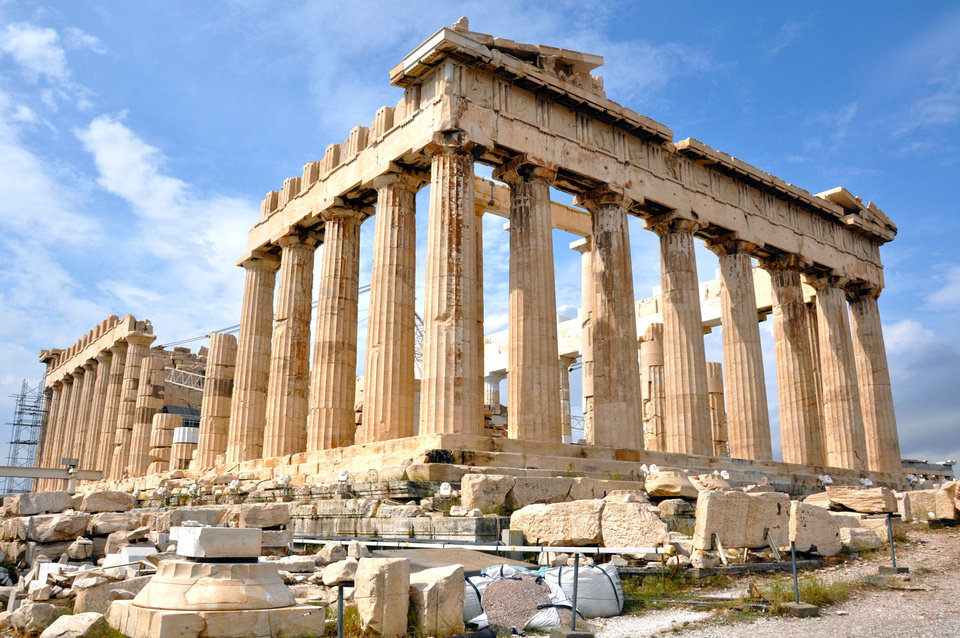 Despite Greece�s economic troubles, the grandeur of the Acropolis is eternal. Photo by Cameron Hewitt